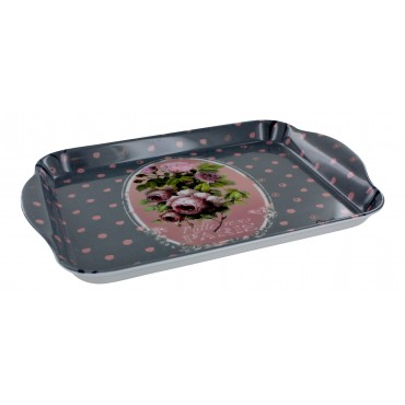 "French Extra Small Serving Tray ""Paris Mille roses"" - 8 1/2"" x 5 1/2"" -"