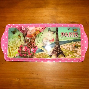 "French serving Tray ""Paris Vu du Ciel"" - 15"" x 6 1/2"""