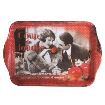 """French serving Tray """"Coup de Foudre"""" - 15"""" x 6 1/2"""""""