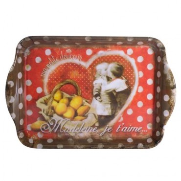 "French serving Tray ""Madeleine je t'aime"" - 15"" x 6 1/2"""