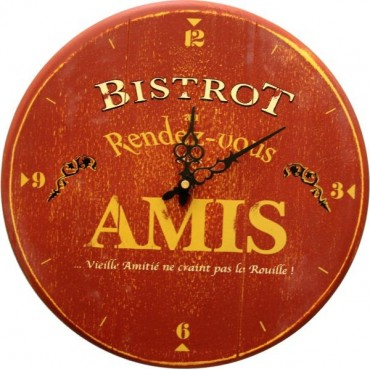 French Wall Clock Bistrot Des Amis