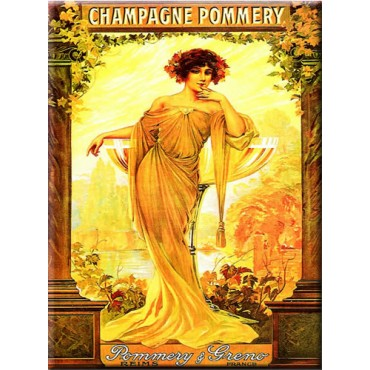"French Metal Sign 12""x16"" ""Pommery Champagne"""