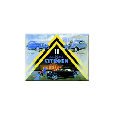"French Metal Sign 12""x16"" ""Citroen traction avant"""