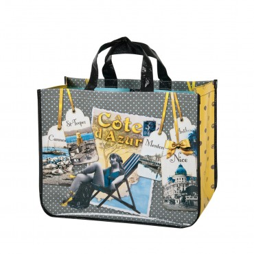 French shopping Bag - Cote d'Azur Souvenirs