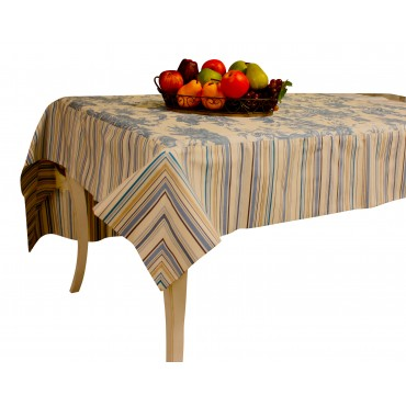 Blue Toile  square Tablecloth
