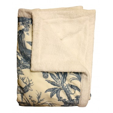 Blue Toile Beach blanket
