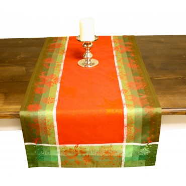French Table runner - Garnier Thiebaut -  Christmas Cherry -