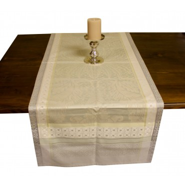 French Table runner - Garnier Thiebaut -  Isaphire Platine -