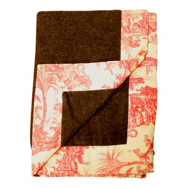 Brown Toile  warm blanket