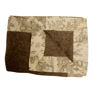 Light brown Toile  warm blanket