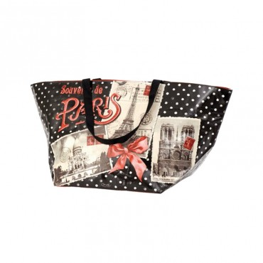"Large Shopping Tote ""Souvenir de Paris"""