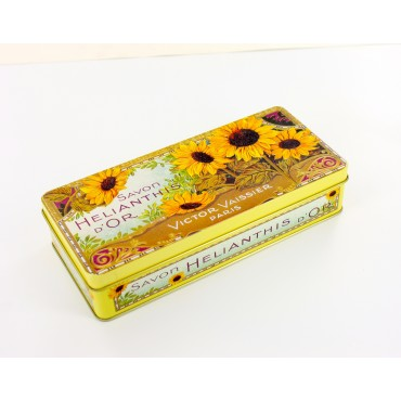 Tin box - rectangular - metal - Savon Helianthis d'or