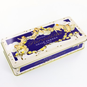 Tin box - rectangular - metal - Savon Paradisia