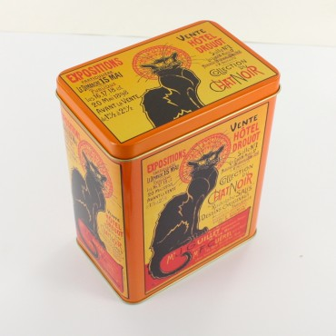 Tin box - rectangular - metal - Chat Noir