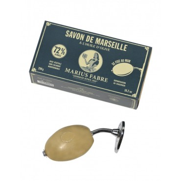 French vintage wall hanging rotating Marseille soap holder - brass -  10.2 oz Marseille soap