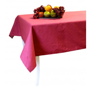 "Provence Tablecloth - Esterel -  Rosewood  - Square 63"" x 63"" - 100% cotton - Made in France -"