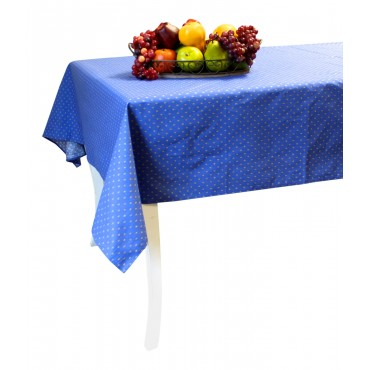 "Provence Tablecloth - Esterel -  Navy blue  - Square 63"" x 63"" - 100% cotton - Made in France -"