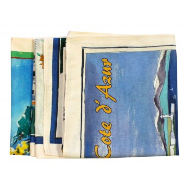 Provence Dish Towels - Set of 3 - Provence Cote d'Azur - Made in France