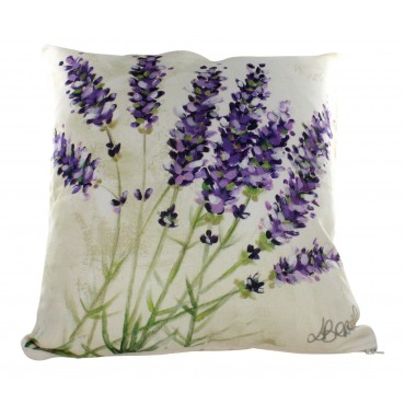 "Provence Decorative Pillow  Cover - Lavender - 16"" x 16"" -  Made in France"