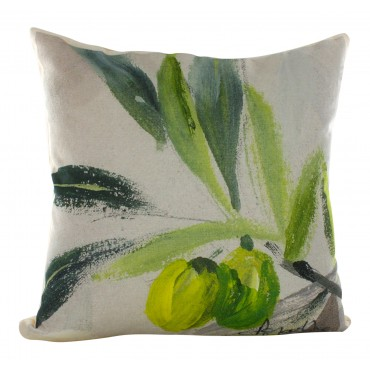 "Provence Decorative Pillow  Cover - Olive - 16"" x 16"" -  Made in France"