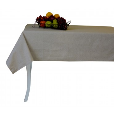 "Provence Tablecloth - Esterel -  Beige - Rectangular 98"" x 63"" - 100% cotton - Made in France -"