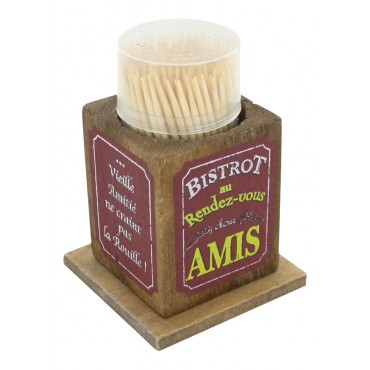 "Toothpick holder, French vintage design ""Bistrot des Amis"""