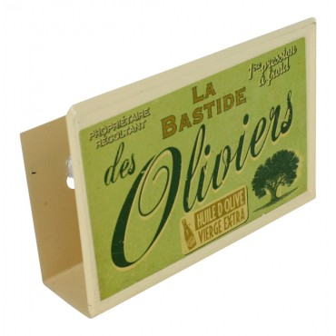 "French vintage Metal Sponge Holder ""Bastide des Oliviers"""