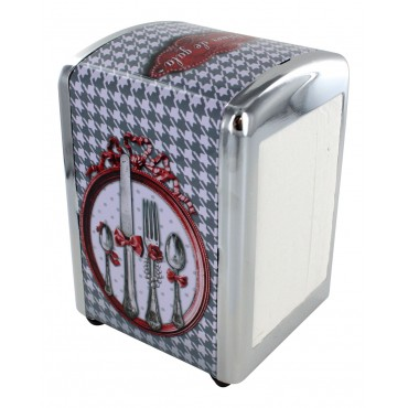 "French Napkins dispenser ""Diner de gala"" + 1 refill of 100 Napkins"