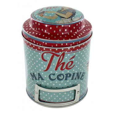 "Tin jar, French vintage design ""The ma copine"""