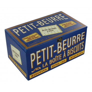 French vintage wooden decorative box - Petit-Beurre - rectangular -