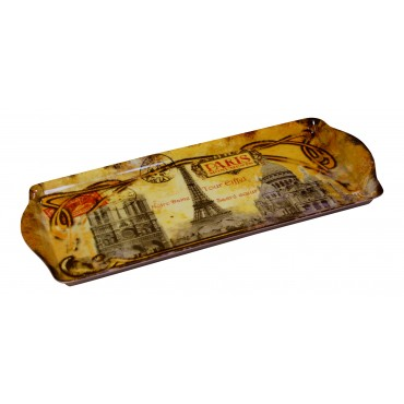 "French serving Tray ""Paris Monuments"" - 15"" x 6 1/2"""