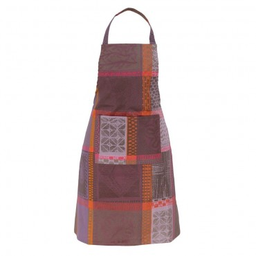 "French Apron - Jacquard - Stain resistant - Purple Elephant 30""x33"""