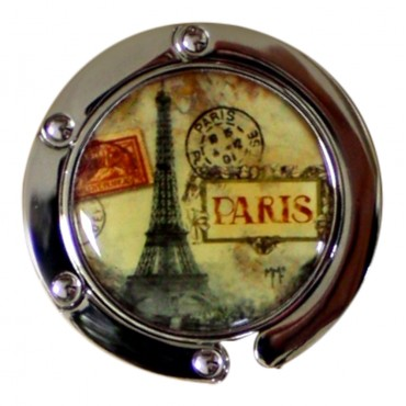 "Purse hook hanger, French Vintage design ""Eiffel Tower"""