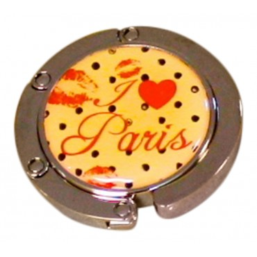 "Purse hook hanger, French Vintage design ""J'aime Paris"""