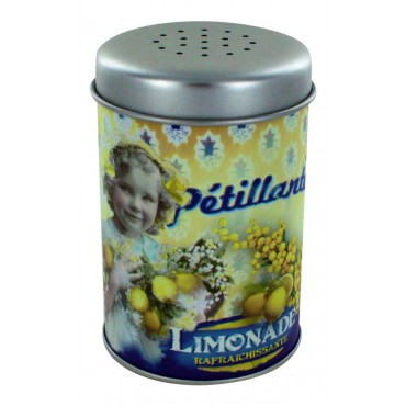 "Metal sugar dispenser, French Vintage design ""Limonade Petillante"""