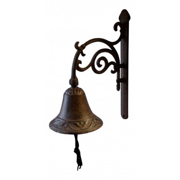 "Wall mounted Antique Style Bell, French design ""Arabesque"""