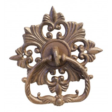 "Cast iron Door Knocker, French Antique design ""Antique fleur de Lys"""