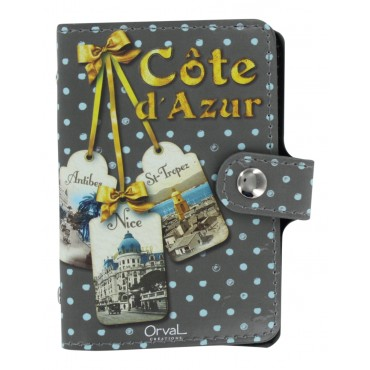 French Credit card holder - Book style - Cote d'Azur -