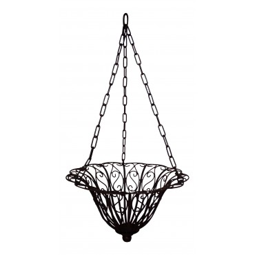 Decorative metal hanging basket, French vintage style