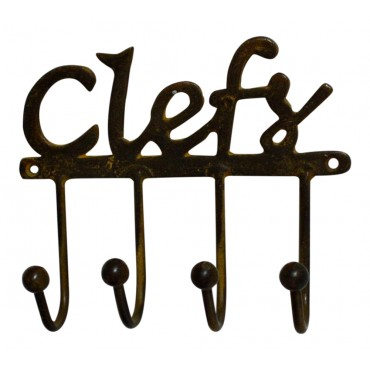"Metal Key Holder, French vintage design ""Clefs"""