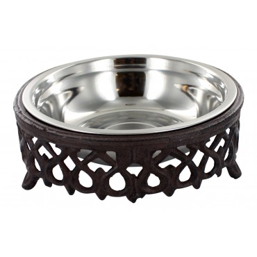 Cast iron pet bowl,  French Antique design