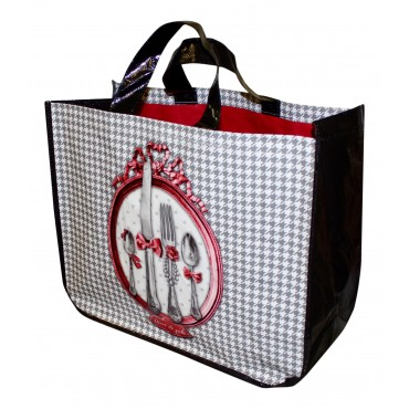 "French shopping Bag ""Diner de Gala"""