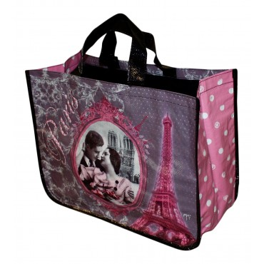 "French shopping Bag ""Paris Eiffel Tower"""