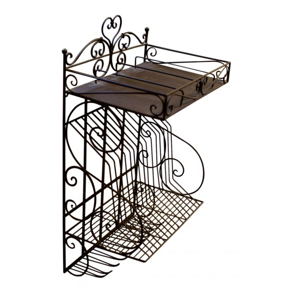 wall mounted decorative metal dish and glass drainer french vintage design my french neighbor. Black Bedroom Furniture Sets. Home Design Ideas