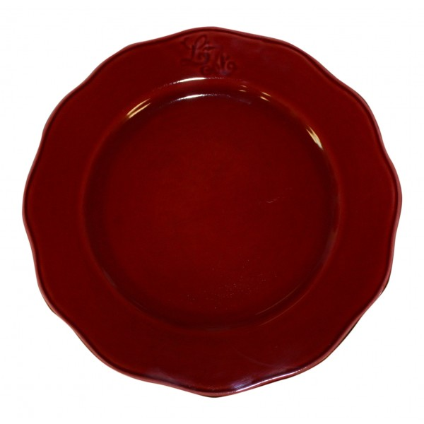 Earthenware dinner plates set of 6 dark red French vintage design  sc 1 st  My French Neighbor & Earthenware dinner plates set of 6 dark red French vintage design