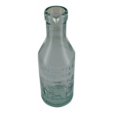 Decorative glass milk bottle, French vintage design
