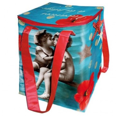 "French Insulated lunch bag ""a la Plage"""