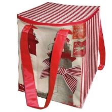 "French Insulated Lunch Bag ""sur La Vague"""