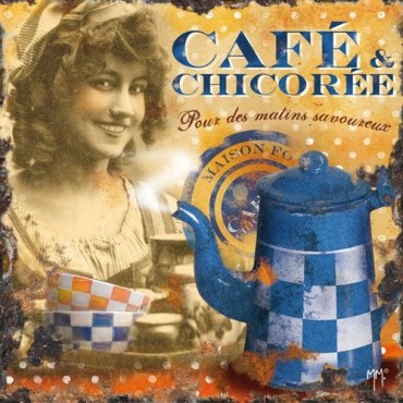 "French Trivet - Cafe Chicoree - Glass - 8.5"" x 8.5"" -"