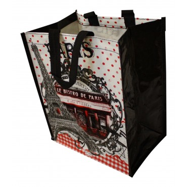 "Small Shopping Bag, French vintage design ""Bistro de Paris Montmatre"""